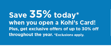 don't have a kohls card? apply now.