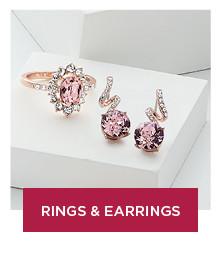 shop rings and earrings