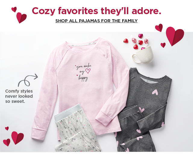 shop pajamas for the family