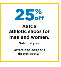 25% off asics athletic shoes for men and women. shop now.