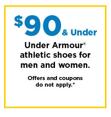 $90 and under under armour athletic shoes for men and women. shop now.