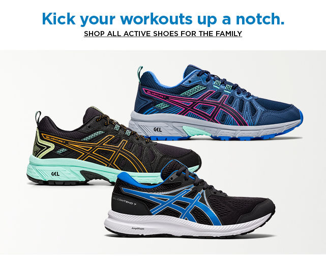 shop all active shoes for the family
