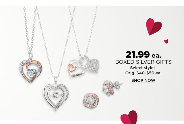 21.99 boxed silver gifts. shop now.