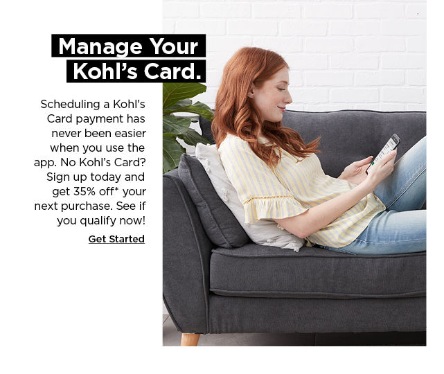 see if you are pre-qualified for a kohls card today
